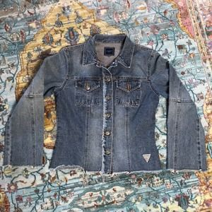 Guess   Authentic Distressed Jean Jacket Size S